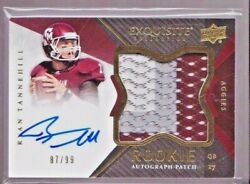 2012 Upper Deck Exquisite Ryan Tannehill On Card Auto 3 Color Jersey Rc # to 99 $319.95