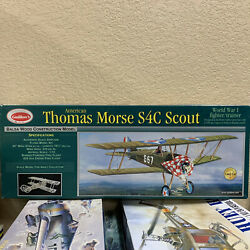 *DISCOUNTED* Guillow#x27;s Thomas Morse S4C Scout WW I Fighter Balsa Kit 1 12 Scale $44.95