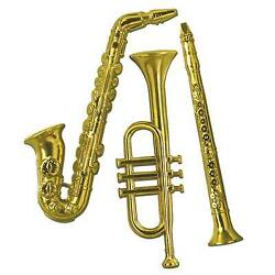 Gold Plastic Musical Instruments $11.22