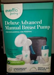 Evenflo Deluxe Advanced Manual Breast Pump For Occasional Pumping Portable $26.95