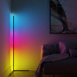 "Noxu Lux Lamps 40"" Modern Corner LED Floor Lamp Color Changing amp; Dimmable $89.97"
