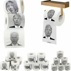 1 Roll Toilet Paper Trump Biden Nancy Roll Paper Funny Novelty Gag Party Gift $6.99