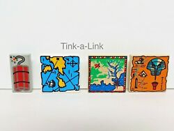 3x Lego 2x2 Treasure Map Tiles Various Patterns Castle Pirate and Adventure $3.25