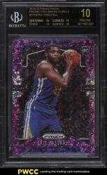 2019 Panini Prizm Fast Break Purple Eric Paschall ROOKIE 75 BGS 10 BLACK LABEL $1599.00