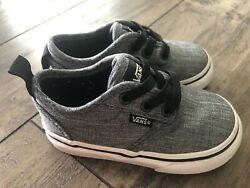 Vans Off The Wall Boys Kids Toddler Slip on Laces Gray Shoes Sz 5 Worn Once $27.99