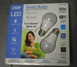 New Sealed FEIT Electric Smart Wi Fi LED Color Changing Dimmable 60W Bulbs 2 pk $16.25