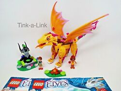 Lego 41175 Fire Dragon#x27;s Lava Cave Elves Set Incomplete with Manuals $64.95