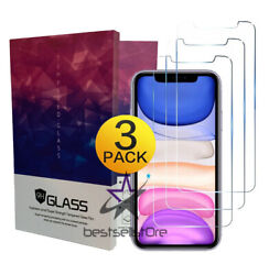 3 Pack For iPhone 11 Pro 8 7 6s Plus X Xs Max XR Tempered GLASS Screen Protector $6.54