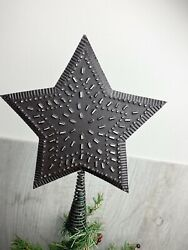 Primitive Country Punched Tin Tree Topper $12.00