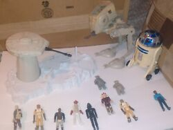 Kenner Star Wars 1980 83 lot ATST vehicle Hoth Turret Playset loose figures $55.00