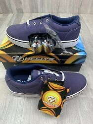 Heelys Size 12 Mens Launch Navy Canvas 770155 Skate Shoes $69.99