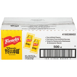 French#x27;s Mustard Single Serve Packets 5.5 g. 500 count $8.99