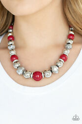 Paparazzi Weekend Party Red Necklace Set Box1 $5.50