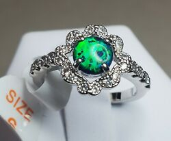 Ring Bomb Party Size 6 Emerald Green Fire Opal RBP2379 $126 Retail New w tag $22.95