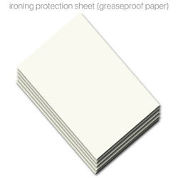 20x A4 Ironing Protection Paper Fabrics Heat Press Greaseproof Paper for T shirt $5.77