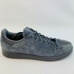 Adidas Stan Smith Grey Blue Suede US Men Size 11 BZ0452 Shoes Sneakers Athletic $34.95