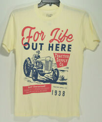 Tractor Supply Company Mens For Life Out Here T Shirt Vintage Style Size Small $8.99