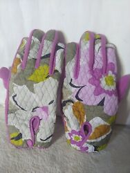 Vera Bradley Portobello gloves Pink.Quilted Fleece lined Size Small $14.00
