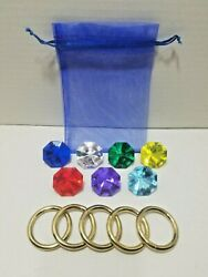 Sonic The Hedgehog 7 Chaos Emeralds And 5 Power Rings With A Drawstring Bag $20.00