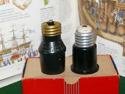 2 Vintage EAGLE HEMCO ELECTRIC LAMP SOCKET EXTENDER EXTENSION ADAPTERS OUTLET $19.99