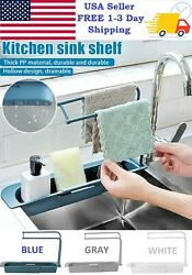 Kitchen Sink Adjustment Shelf Telescopic Expandable Storage Rack Drain Basket $8.99