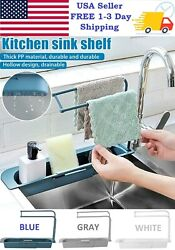 Kitchen Sink Adjustment Shelf Telescopic Expandable Storage Rack Drain Basket $9.99