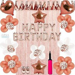 SPSS INNOVATIVE Women Mom amp; Girls for All Ages Birthday Decorations Rose Gold $24.99