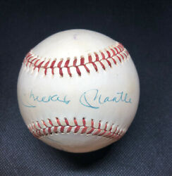Mickey Mantle And Whitey Ford Signed Autographed Feeney Spalding Ball. JSA. $449.00