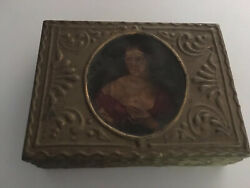 Box wood antique with old fashioned lady on front. PayPal. $150.00