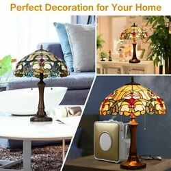 Modern Durable Retro Style Victorian 2 Light Table Lamp w 16quot; Stained Shade $177.52