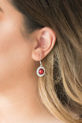 Paparazzi Fashion Show Celebrity Red Dangle Earring 567