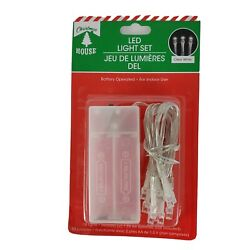 Christmas LED String Lights Set 10 Clear White Lights Battery Operated