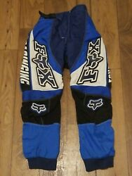 Fox Motocross Offroad Youth Riding Pants Blue White Blue Size 10 26 $27.00