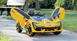 First Drive Lambo Concept Yellow 12v Kids Ride On Car Remote Control $198.99
