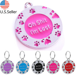 Buy 4 Get 1 Free √ FUN Dog Tags Pet Tag Cat Tag Name ID Engraved Personalized $3.95