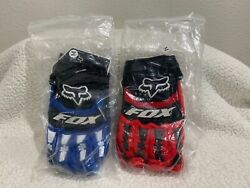 BMX Racing Gloves Fox . Brand New in the Package In Blue or Red Choice Of Color $13.00