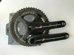Campagnolo Super Record 11spd Crankset 172.5 w Stages Power Meter Free Rings C $799.00