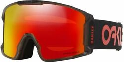 Oakley Line Miner Snow Goggles Scotty James Crystal Black w Prizm Torch $144.00