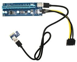 Monmount PCI E 16x to 1x Powered Riser Adapter Card w USB 3.0 Extension amp; 6 Pin $8.64