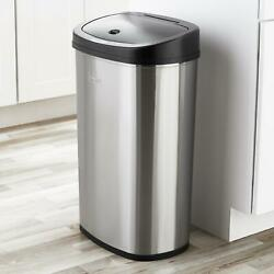 Trash Can Garbage Touchless Sensor Automatic Stainless Steel Kitchen Waste Bin $50.08