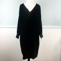 SIZE 22W Ralph Lauren Black Velvet Dress NWT New Party Cocktail Women's Plus 3X $59.99