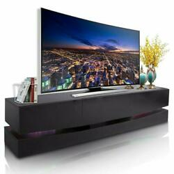 High Gloss 47#x27;#x27; TV Stand Unit Cabinet Console Table RC with Colorful LED Lights $119.90