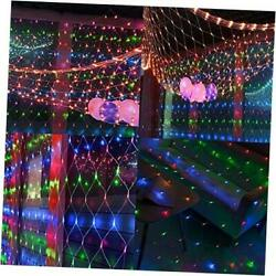 360 LED Christmas Net Lights 12ft x 5ft 8 Modes Connectable Christmas Lights D