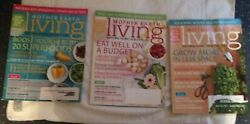 MOTHER EARTH LIVING 3 issues from 2013 amp; 14. Natural Home amp; Healthy Life info $9.00