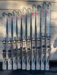 Volkl Unlimited AC Skis w Marker 9.0 Speed Point Bindings Waxed Tuned $139.99