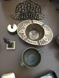 Lot Of Antique Vintage Brass Items $20.00