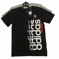 Authentic Adidas LOGO 100% cotton Youth Big Boy Short Sleeve T shirt Tee 2 pack $21.95