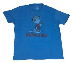 Men#x27;s Peanuts T Shirt Linus Munchies Faded Distressed Graphic Tee $14.99