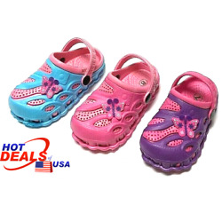 Girls Kids Garden Clogs Shoes Toddler Slip On Casual Two tone Slipper Sandals $11.45