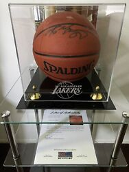 Kobe Bryant Signed Spalding Basketball With New Display Case PSA DNA LOA#9A02872 $2500.00
